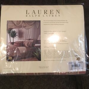 Ralph Lauren King Fitted Sheet New in Package
